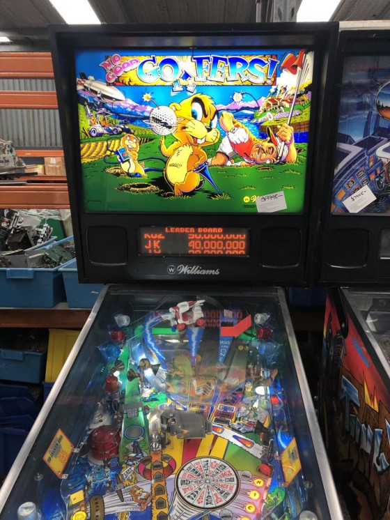 No Good Gofers Pinball $9995.00 SOLD