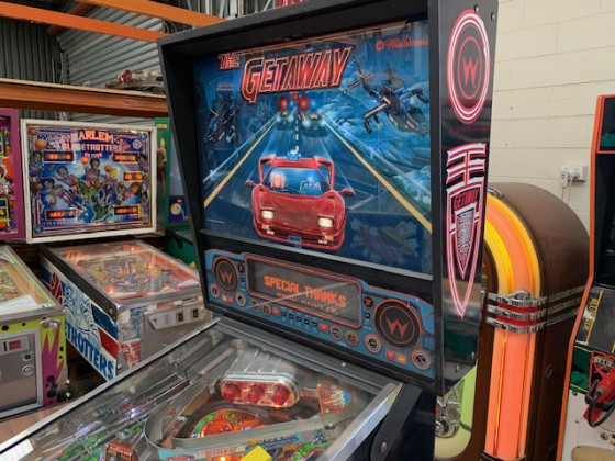 The Getaway Pinball machine  SOLD
